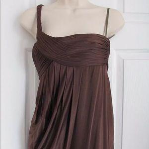 BCBGMAXAZRIA Chestnut One Shoulder Knit Dress